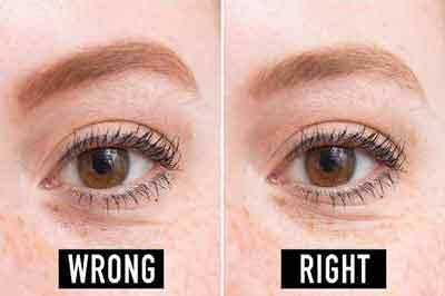 دو تصویر از چشم و ابروی زنی با پوستی روشن و موی قرمز
