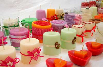 شمعهای رنگارنگ وزیبا در شکلهای مختلف