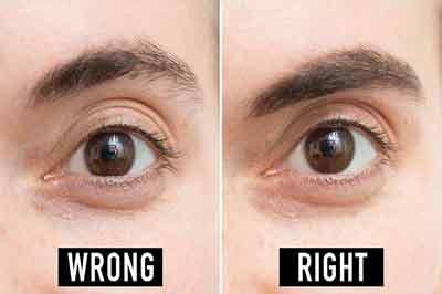 دو تصویر از چشم و ابروی یک مرد که در تصویر سمت چپ ابرو نامرتب است