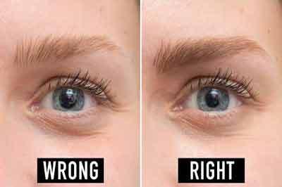 دو تصویر از یک چشم و ابرو که ابرو قهوهای روشن و چشم به رنگ آبی است