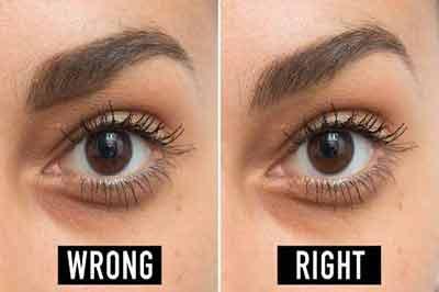 دو تصویر از چشم و ابروی یک زن با ابروی پهن و قهوهای تیره و چشم قهوهای تیره