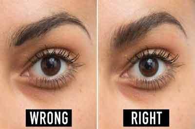 دو تصویر از یک چشم و ابرو به رنگ قهوهای تیره