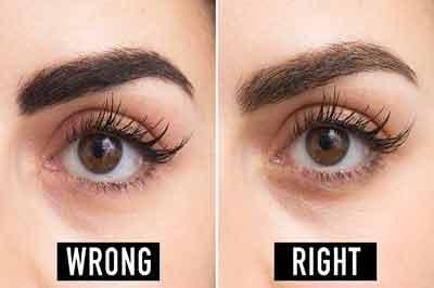 دو تصویر از یک چشم قهوهای زیبا و ابرویی پهن