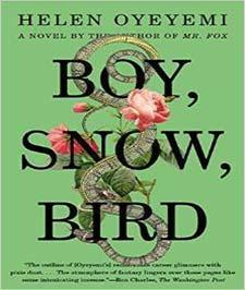 کتابی با جلد سبز رنگ که تصویر یک مار و دو شاخه گل صورتی رنگ از لابه لای نوشته های سیاه رنگ ان مشخص است
