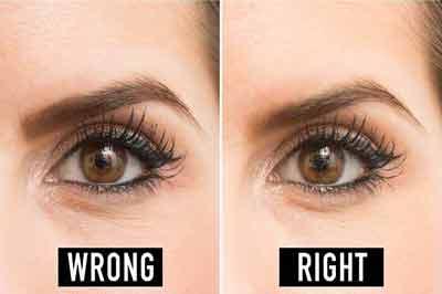 دو تصویر از ابروهایی با رنگ قهوهای و چشمهایی قهوهای رنگ